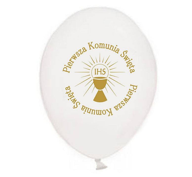 5bcfb5e60e1217 balon komunijny DEC-BN5 - BIAŁY - 10 szt. * Balony z nadrukiem ...