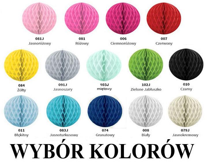 Kule Bibułowe 20 Cm Kb20cm Wybór Kolorów 50 Szt Kule