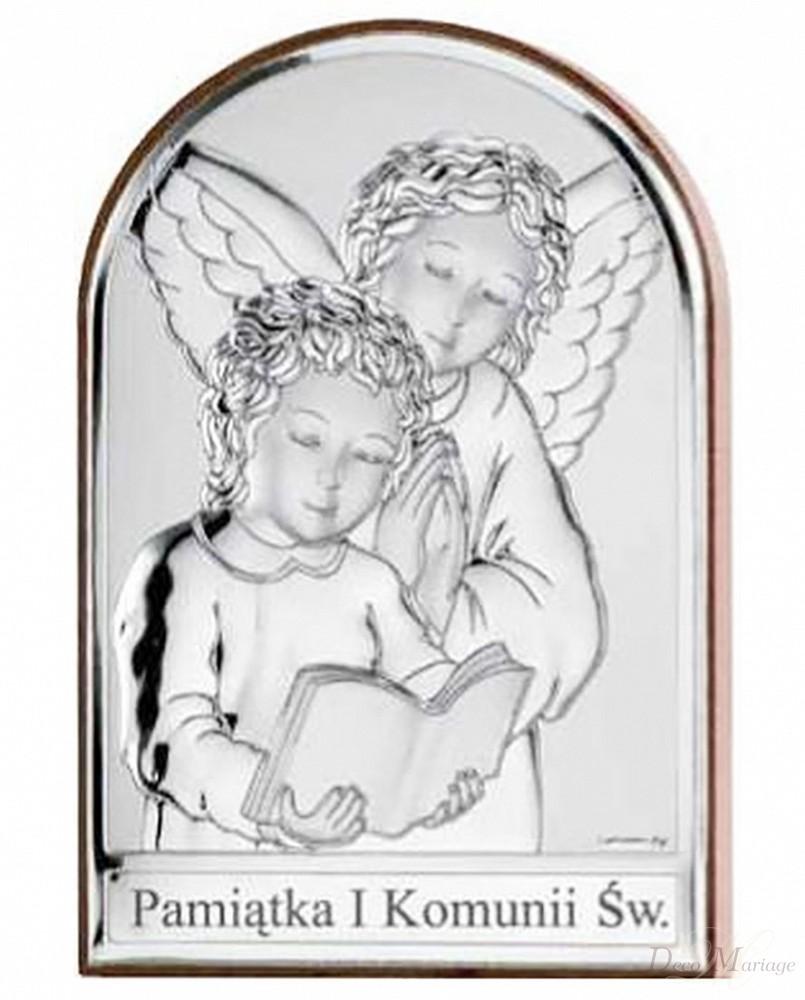 8be4ab9fc2 obrazek srebrny   pamiątka 1 komunii św. - 81217-1L aniołki ...