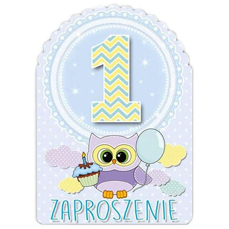 9a3ae93e807b9d zaproszenie na roczek ZPR-S - sówki niebieskie * zaproszenia na ...