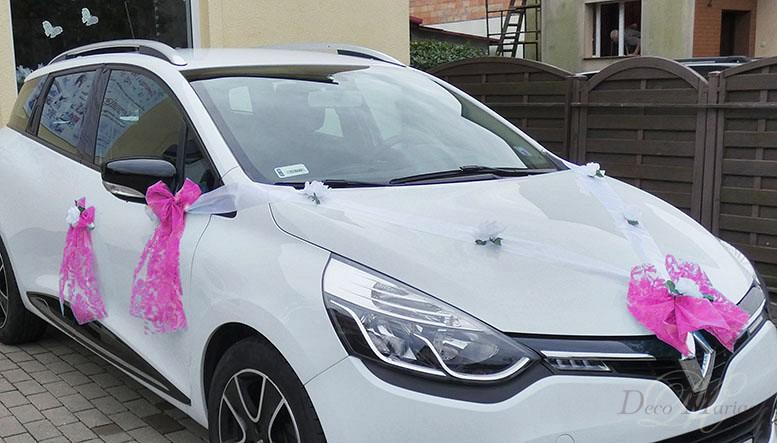 Dekoracja Samochodu Na ślub Ds1 Amarant Dekoracja Samochodu Na