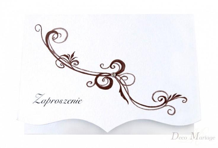 Zaproszenia ślubne Zp105 10 Szt Zaproszenia ślubne Deco